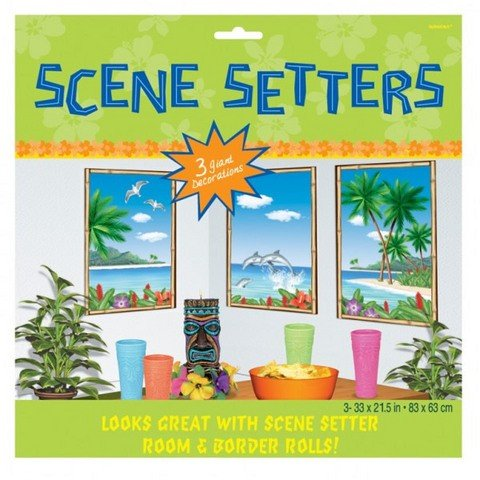 Tropical Sea View Scene Setters - by Partyrama