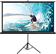 Projector Screen Protable 120 inch Diagonal Projection HD 4:3 Projection Pull Up Foldable Stand Tripod,244 X 1