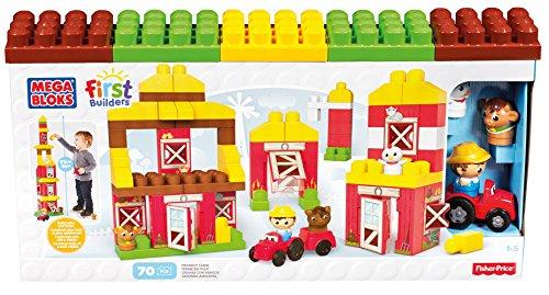 Mattel Mega Bloks First Builders CNG27 - Freundliche Farm, Bau- und Konstruktionsspielzeug (Mega Blok Bau)
