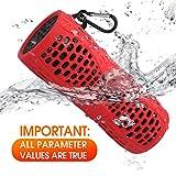 Enceinte Bluetooth Portable sans Fil étanche Flottant Tingda Portable Bluetooth Haut-Parleur 12W IP67 avec Support de Batterie 1000mAh Mains Libres et AUX-Rouge
