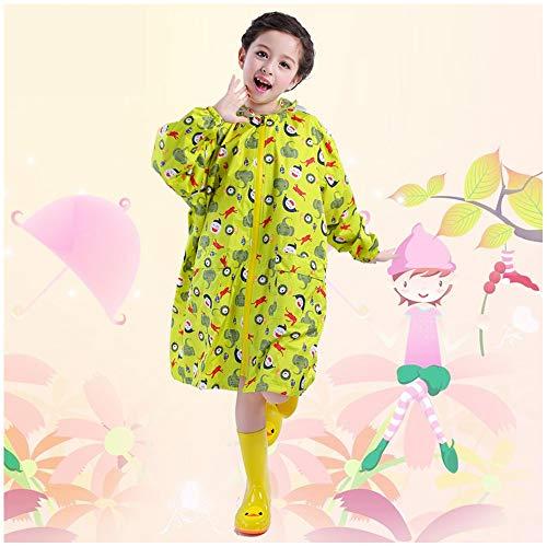 Kinder Regenmantel Geyao Jungen und Mädchen Kindergarten Cartoon Koreanisch Grundschule Regenmantel Regen Stiefel Anzug Poncho (Color : Yellow, Size : L) (Stiefel Burberry Regen)
