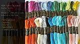 100Anclaje sólido de punto de costura Madejas bordado de algodón hilo hilo dental 100tonos
