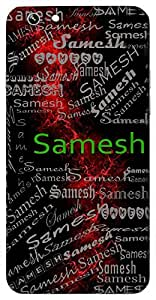 Samesh (Lord Of Equality) Name & Sign Printed All over customize & Personalized!! Protective back cover for your Smart Phone : Motorola Moto Z - PLAY