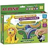 Alpino DP000139 - Caja de 6 botes de pasta blanda Magic Dough formato 40 g, 1 unidad