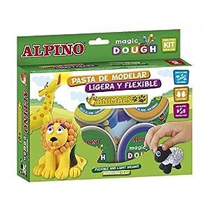 Alpino DP000139 – Caja de 6 botes de pasta blanda (40 g), multicolores