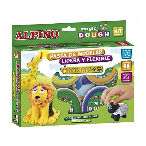 Alpino DP000139 - Caja de 6 botes de pasta blanda (40 g), multicolores