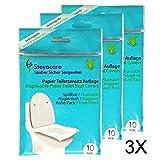 Toilet Seat Cover - Servizi igienici Protezione sedile - Travel Pack copriwater monouso di carta, materassi, sedili WC riposa 30 da St. Steyocare