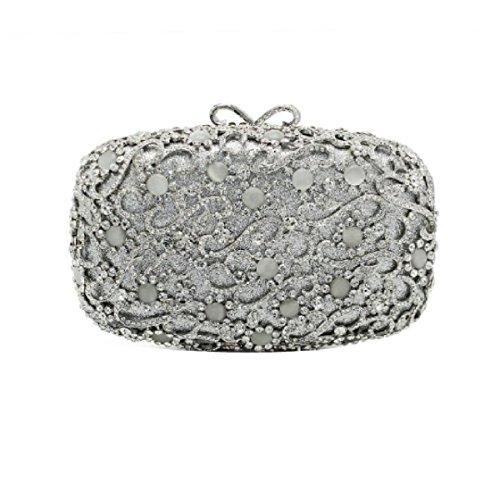 Onorevoli Di Lusso Banchetto Sacchetto Di Sera Borsa Diamanti Frizione Trousse B