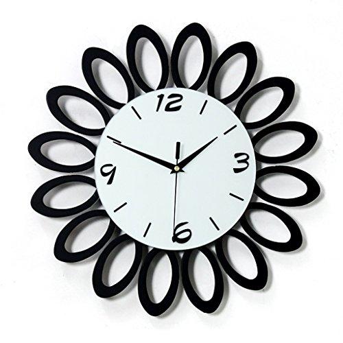ASL Kreative Wanduhr, Uhr Quarz Uhr Wand Diagramme Modern Einfache Mode Persönlichkeit Mute Schlafzimmer Wohnzimmer Glas Glocke Gesamtdurchmesser: 40cm Neu ( Farbe : A ) (Asl-diagramm)