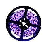 DeepDream 5M UV Schwarzlicht LED Streifen mit 24W Netzteil, Selbstklebend 2835 SMD LED Band IP65 Wasserdicht,UV LED Strip 300 LEDs Lichtband