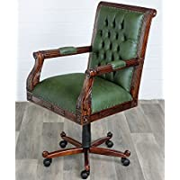 Bürostuhl Chesterfield Design Chefsessel Schreibtischstuhl Drehstuhl Kunstleder