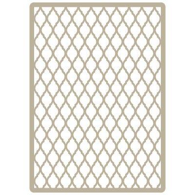 Stencil Deco Embossing 046 Celosia arabe. Medidas aproximadas: Medida exterior del stencil: 15 x 21 cm Medida del diseño: 14 x 20 cm