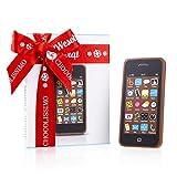 Schokoladenhandy - Schokoladen Handy - Smartphone aus Schokolade | Geschenk | Als Gag ganz witzig | Weihnachtsschokolade | Geschenkidee | Weihnachten | Weihnachtsgeschenk | Kinder | Erwachsene | Papa