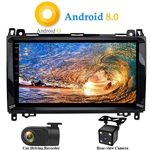 XISEDO Android 8.0 Autoradio In-Dash 9 Zoll Car Radio 8-Core RAM 4G ROM 32G Autonavigation Car Radio mit 1024 * 600 Touch Screen für Mercedes-Benz A-W169, B-W245, Viano, Vito, Sprinter