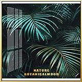zgmtj Verde e Oro Ananas Monstera pianta Pittura Grande Foglia Stampa Poster da Parete Arte per Soggiorno navata Unica Decorazione Moderna
