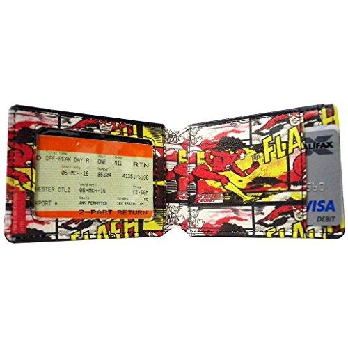 Ufficiale di DC Comics Flash nero viaggio Oyster Card titolare con distintivo in metallo