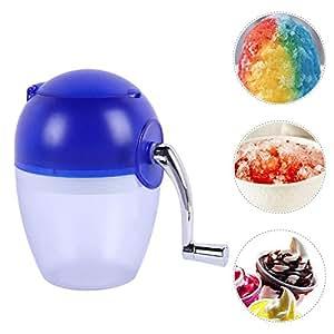 DLGF Macchina per il ghiaccio a mano Macchina per gelato a manovella manuale Levigatrice manuale、Macchina per il ghiaccio fatta in casa,Mini frantoio per ghiaccio a manovella manuale