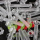 Pacco di 60 Acrilico Bulloni e Dadi, Rondelle, M5 x 30mm in Plastica Trasparente - Acrilico Viti