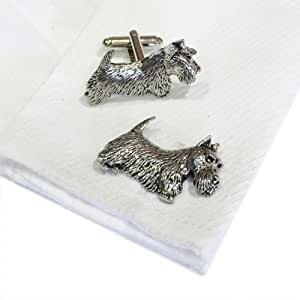 Scottish Terrier Pewter Cufflinks. All our cufflinks come supplied in a Gift Box.