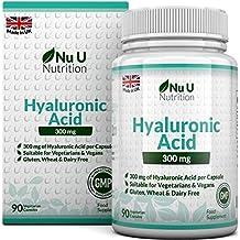 Ácido Hialurónico 300 mg | 90 Cápsulas (Suministro Para 3 Meses) | Tres Veces