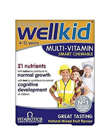 Vitabiotics Wellkid Chewable Vitamins, Iron & Minerals Plus Omega-3 (30)