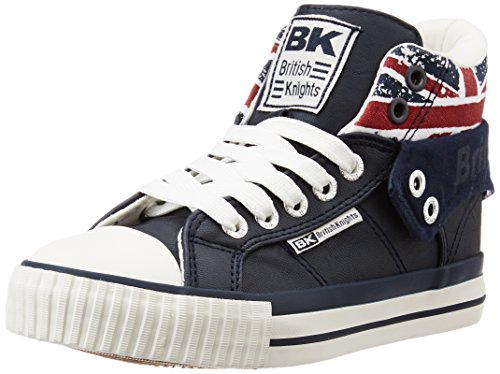 British KnightsRoco - Scarpe da ginnastica alte Unisex - Bambini , Blu (Bleu (navy/union Jack)), 32
