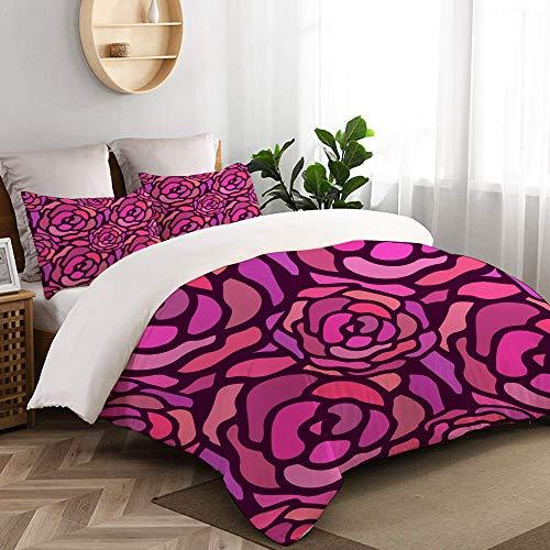 VORMOR 3 teilig Bettbezug Rosegold Marmor Hintergrund glänzend Glitzer glänzend Mikrofaser Bettdeckenbezug 135x200cm,Reißverschluss,mit 2 Kopfkissenbezüge 50x80cm