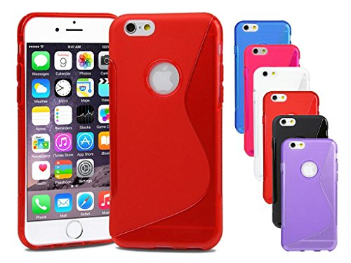 Premium Apple iPhone 5s Coque Housse Etui rouge Housse étui coque housse en silicone gel S-Line Wave Coque de protection pour Apple iPhone 5S