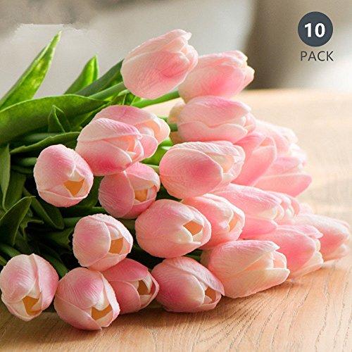 Tulipán Flores Artificiales 10 Piezas Ideal para...