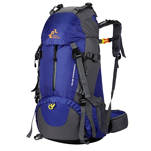 MagiDeal 50L Grande Zaino da Escursionismo Corsa Sport Campeggio Outdoor Bagagli Backpack - Nero Blu