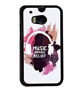 FUSON Music Brings Relief Designer Back Case Cover for HTC One M8 :: HTC M8 :: HTC One M8 Eye :: HTC One M8 Dual Sim :: HTC One M8s