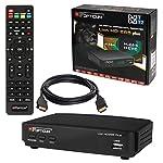 HB DIGITAL DVB-T/T2 SET: Opticum Lion HD 265 Plus HEVC DVB-T/T2 Receiver + HDMI Kabel mit Ethernet Funktion und vergoldeten Anschlüssen (Full HD, HEVC/H.265, HDTV, HDMI, USB 2.0 DVBT DVBT2 DVB-T2)