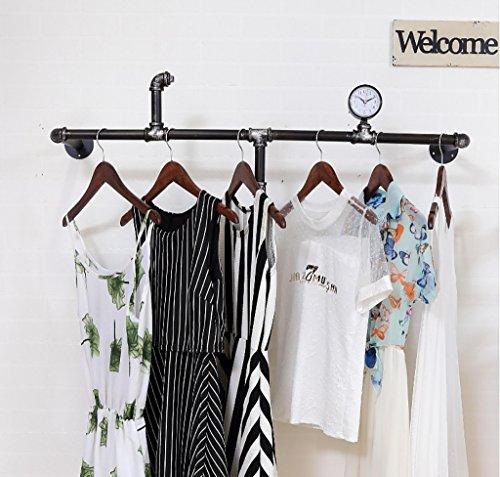 SH-qiang Kleiderständer Bekleidungsgeschäft Kleidung Display Ständer Retro Eisen Wand Hängegestelle Regale Regale Wandgarderobe