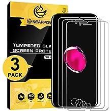 [3 Pack] iPhone 7 Plus/ iPhone 8 Plus Pellicola Protettiva, Nearpow Pellicola Protettiva in Vetro Temperato per iPhone 7 Plus/ iPhone 8 Plus [2.5D Bordi Arrotondati][3D Toccare Compatibile]
