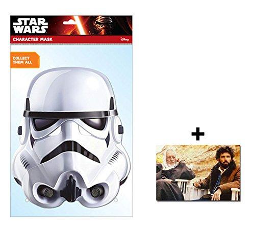 Stormtrooper Official Star Wars Single Karte Partei Gesichtsmasken (Maske) Enthält 6X4 (15X10Cm) ()
