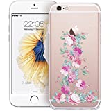 iphone 6 4.7 inch Case, Walmark Soft Gel TPU Silicone Case Clear with Design Cute Cartoon Slim Fit Ultra Thin Protective Cover for Apple iphone 6 4.7 inch_Blossom
