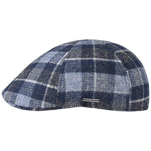 Texas Woolrich Check Coppola Stetson berretto piatto cappello piatto L/58-59 - blu
