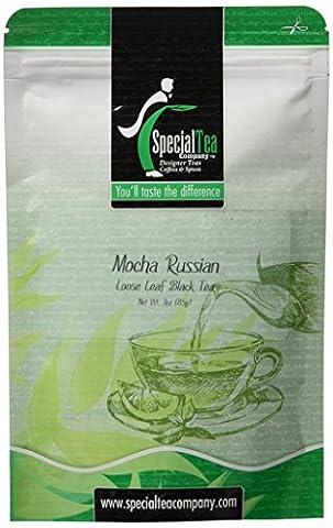 Mocha Russian Tea Loose Leaf Black Tea 3 oz. with Free Tea Infuser