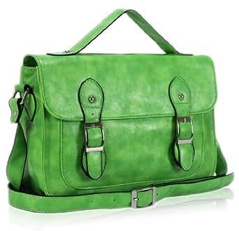 Damen Grün Buckles Satchel Bag KCMODE