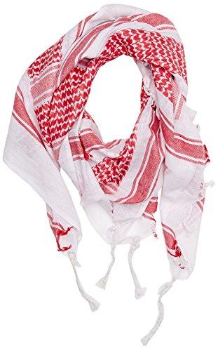 Mil-Tec Halstuch Shemagh 110X110cm Weiß/Rot