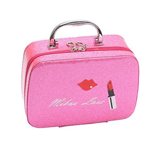 LULAN Kosmetikkoffer Make-up Kosmetik Aufnahmepaket Weiblichen Bag Hand 拎 Kosmetiktasche Kosmetik, Kosmetische, 19 * 14 * 7 cm, Toner der Lippenstift Kleine -