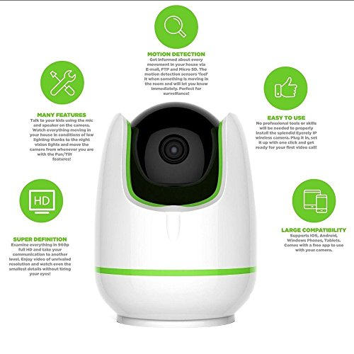 PYRUS 960P HD Stream Wifi IP-Kamera-Überwachungssystem mit eigener Web-App Home Security Baby Monitor - 5