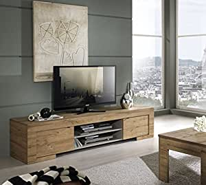 Lc spa milano mobile tv con 2 ante e 1 ripiano in legno 190 x 45 x 51 cm quercia cleaf miele - Lc spa mobili ...