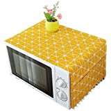 Zollyss Microwave Oven Dust Proof Cover with Side Puch Bag Cotton Linen Kitchen Storage Bags; 85 x 35 cm (Yellow , Standard )