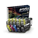 Avonce - Lot de 5 Cartouches d'encre à haut rendement compatibles avec Brother LC3211 LC3211BK LC-3211 universel LC3213 LC3213BK pour Brother DCP-J772DW, DCP-J774DW, MFC-J890DW, MFC-J895DW,DCP-J572DW