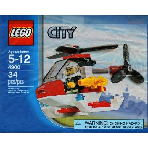 Lego City Mini Figure Set 4900 Fire Helicopter - Bagged (34 Pieces) by (Lego-mini-sets)