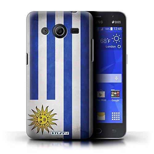 Kobalt® Imprimé Etui / Coque pour Samsung Galaxy Core 2 / Pays de Galles/gallois conception / Série Drapeau Uruguay/Uruguayen