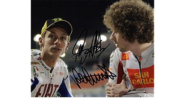 /Édition limit/ée Valentino Rossi Marco Simoncelli Moto GP Photo d/édicac/ée par autographe