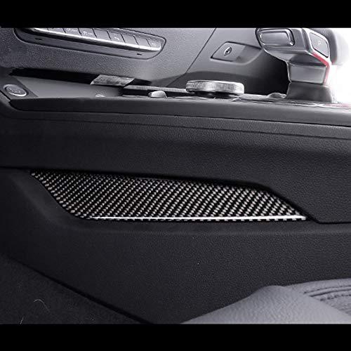 Gnnlor Mittelkonsole Schalthebel beide Seitenverkleidung Dekoration Abdeckung Carbon, für Audi A4 B9 2017 2019