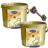 2 x 4 kg Lyra Dog Senior im Eimer Premium Hundefutter für ältere Hunde + Kauseil
